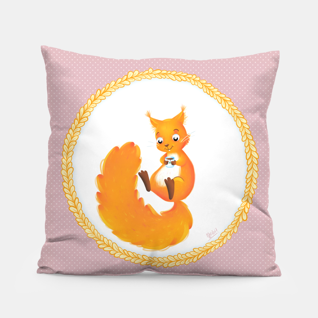 Image of Tea Time Pillow - Live Heroes