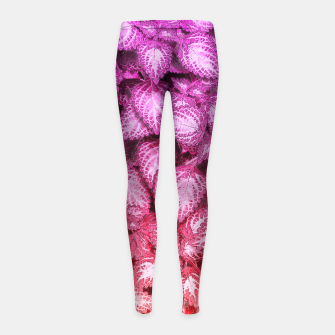 Thumbnail image of Lovely Leaves Girl's Leggings, Live Heroes
