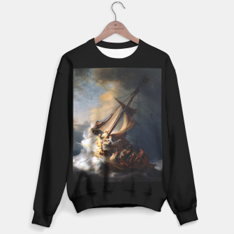THE STORM ON THE SEA OF GALiLEE BY REMBRANDT Sweater regular thumbnail image