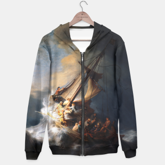 THE STORM ON THE SEA OF GALiLEE BY REMBRANDT Hoodie thumbnail image