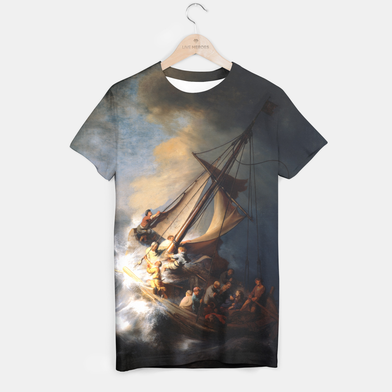 Image of THE STORM ON THE SEA OF GALiLEE BY REMBRANDT T-shirt - Live Heroes