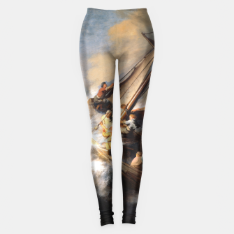 THE STORM ON THE SEA OF GALiLEE BY REMBRANDT Leggings thumbnail image