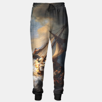 THE STORM ON THE SEA OF GALiLEE BY REMBRANDT Sweatpants thumbnail image