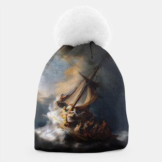 THE STORM ON THE SEA OF GALiLEE BY REMBRANDT Beanie thumbnail image