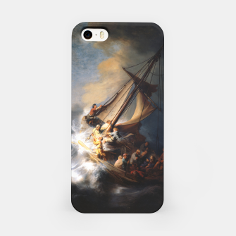THE STORM ON THE SEA OF GALiLEE BY REMBRANDT iPhone Case thumbnail image