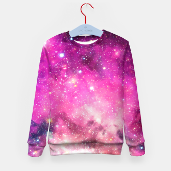 Thumbnail image of Pink Space Kid's Sweater, Live Heroes