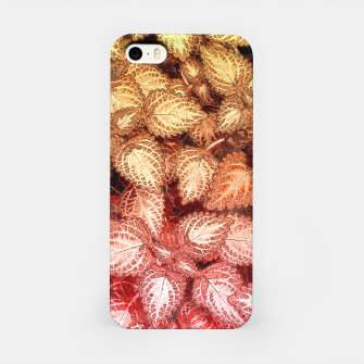 Lovely Leaves, in Red and Gold iPhone Case thumbnail image