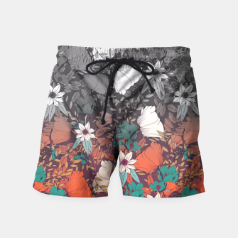 Thumbnail image of Flowery Melancholy Swimming Shorts, Live Heroes