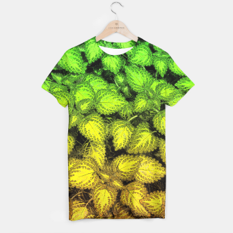 Lovely Leaves, in Green and Gold T-shirt thumbnail image