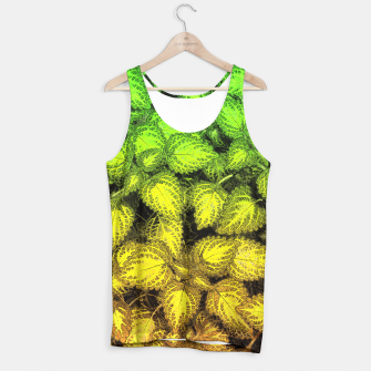 Thumbnail image of Lovely Leaves, in Green and Gold Tank Top, Live Heroes