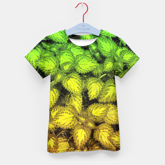 Thumbnail image of Lovely Leaves, in Green and Gold Kid's T-shirt, Live Heroes