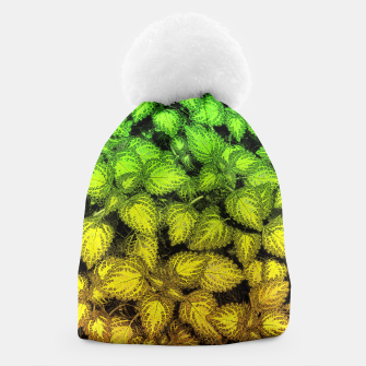 Thumbnail image of Lovely Leaves, in Green and Gold Beanie, Live Heroes