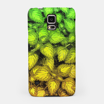 Lovely Leaves, in Green and Gold Samsung Case thumbnail image