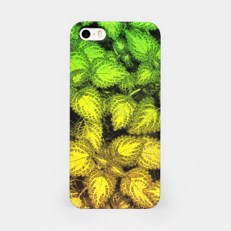 Lovely Leaves, in Green and Gold iPhone Case thumbnail image