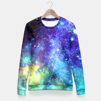 Blue Nebula Fitted Waist Sweater obraz miniatury