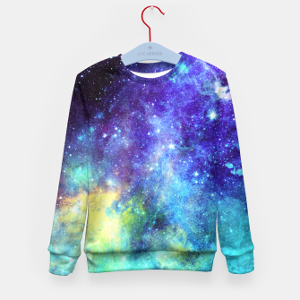 Blue Nebula Kid's Sweater obraz miniatury