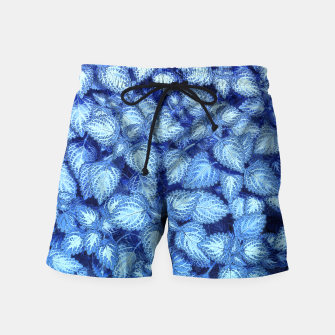 Lovely Leaves, in Blue Swim Shorts thumbnail image