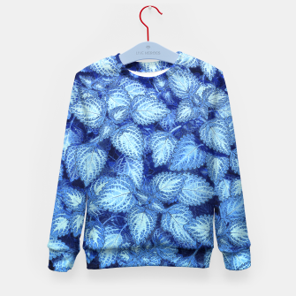 Lovely Leaves, in Blue Kid's Sweater thumbnail image
