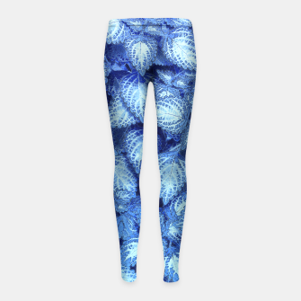 Thumbnail image of Lovely Leaves, in Blue Girl's Leggings, Live Heroes