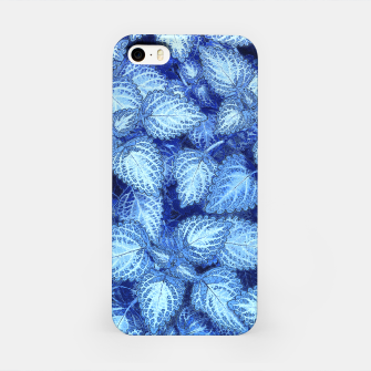 Lovely Leaves, in Blue iPhone Case thumbnail image