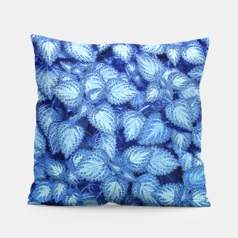 Lovely Leaves, in Blue Pillow thumbnail image