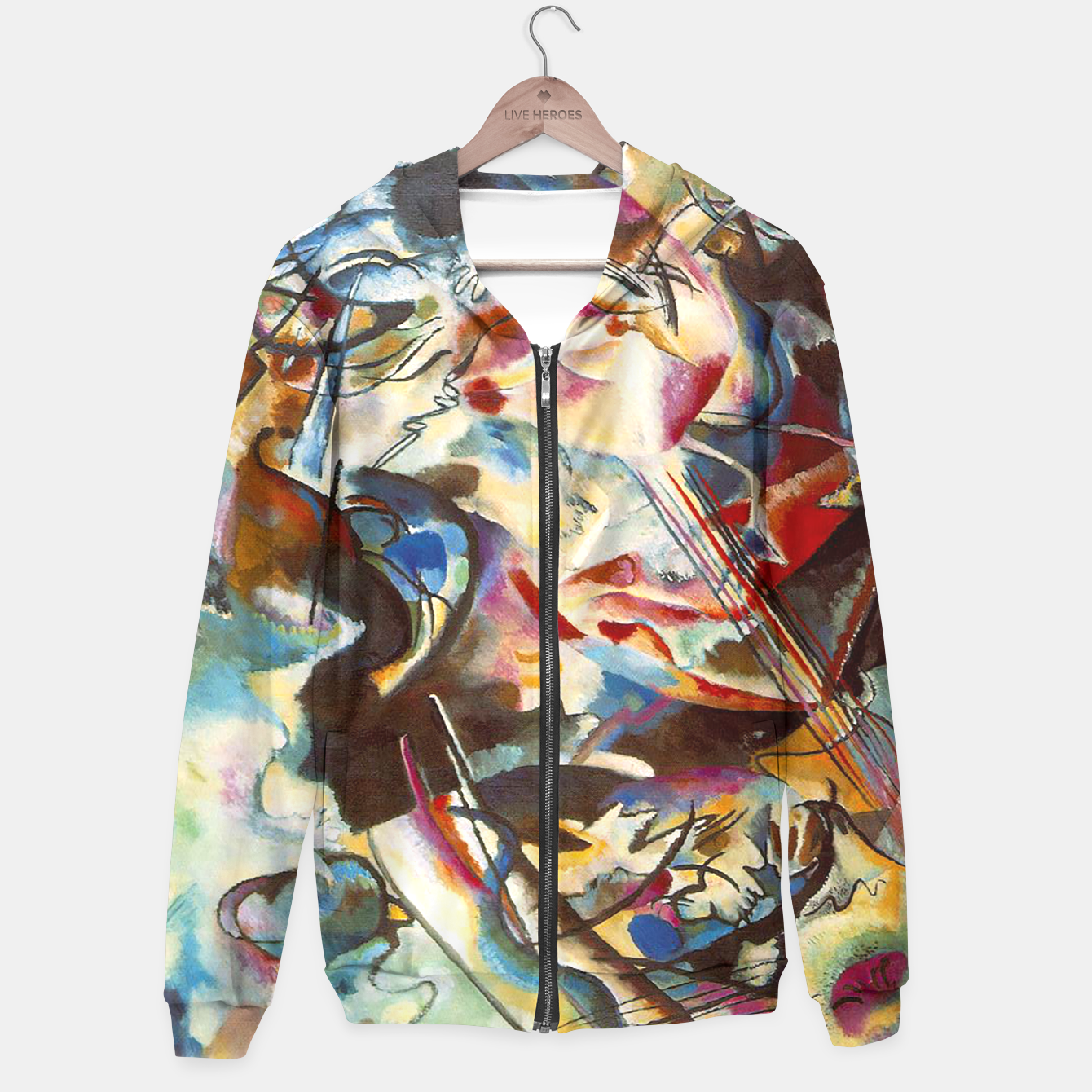 Image of COMPOSiTiON SiX BY VASSiLY KANDiNKSY Hoodie - Live Heroes