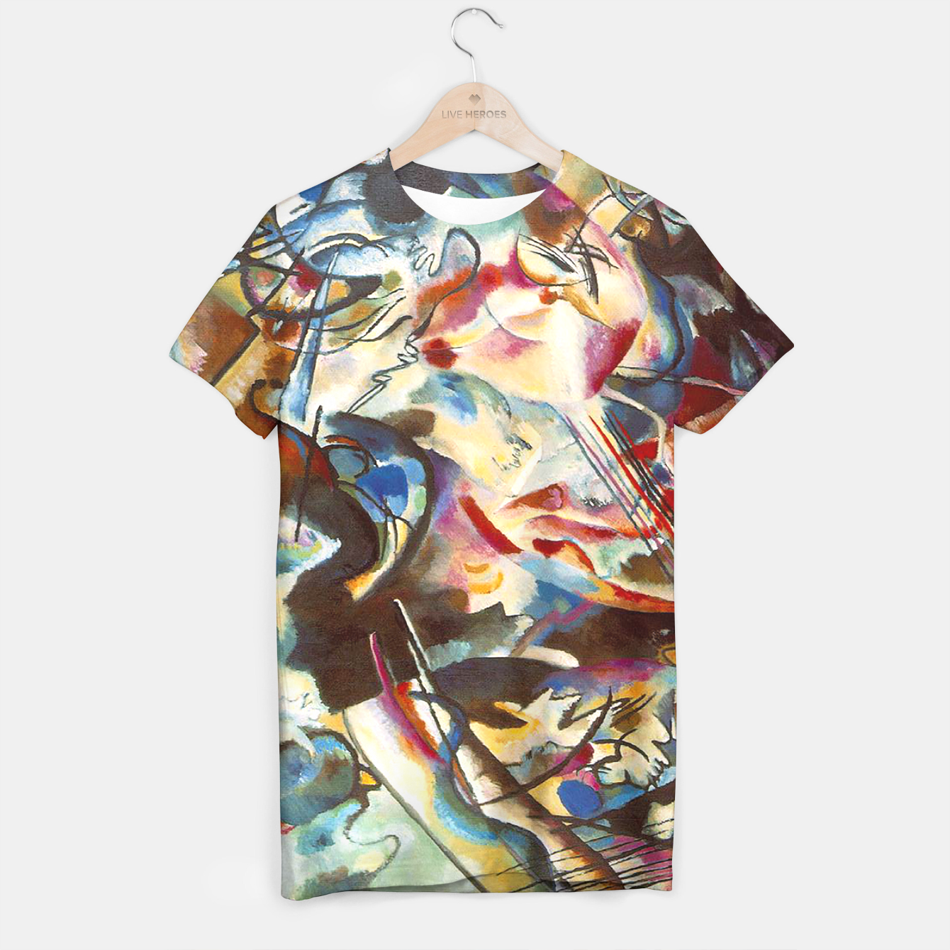 Image of COMPOSiTiON SiX BY VASSiLY KANDiNKSY T-shirt - Live Heroes