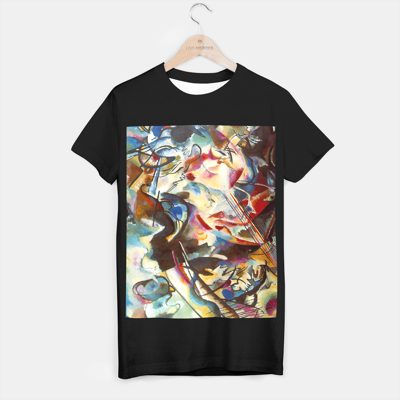 Image of COMPOSiTiON SiX BY VASSiLY KANDiNKSY T-shirt regular - Live Heroes