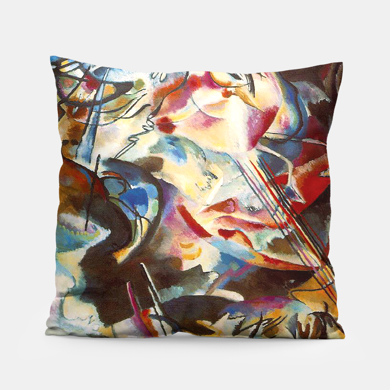 Image of COMPOSiTiON SiX BY VASSiLY KANDiNKSY Pillow - Live Heroes