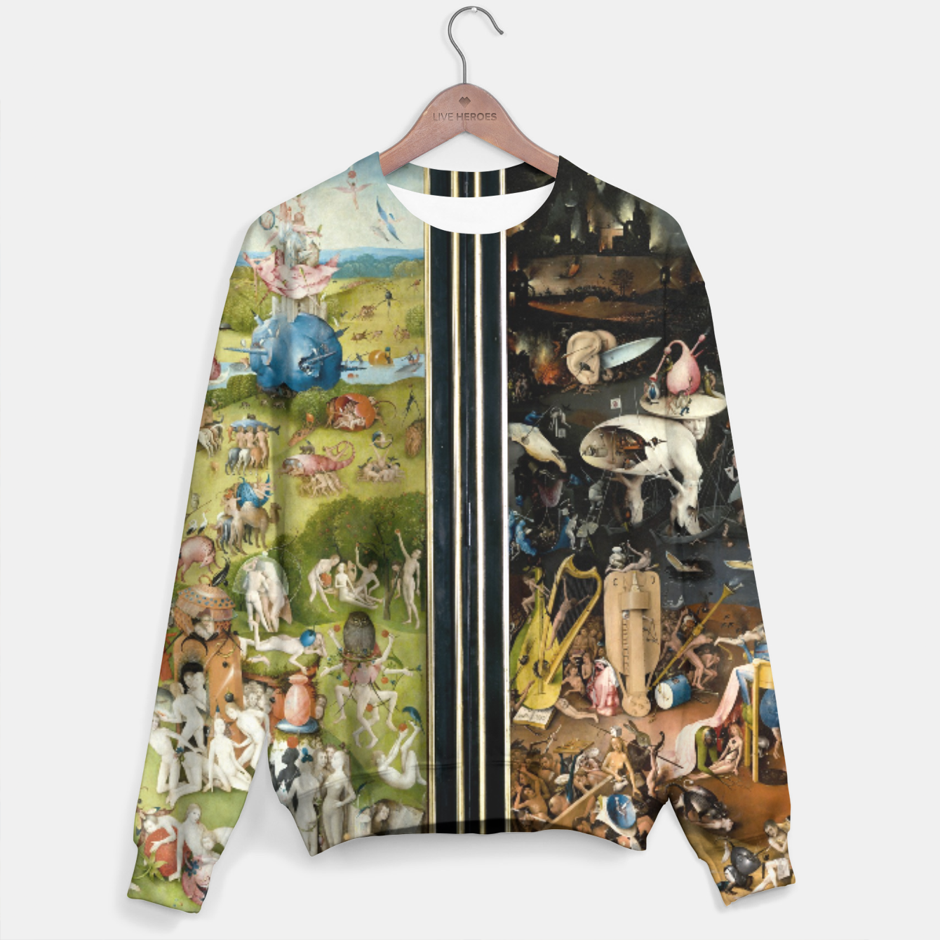 Image of THE GARDEN OF EARTHLY DELiGHTS BY HiERONYMUS BOSCH Sweater - Live Heroes