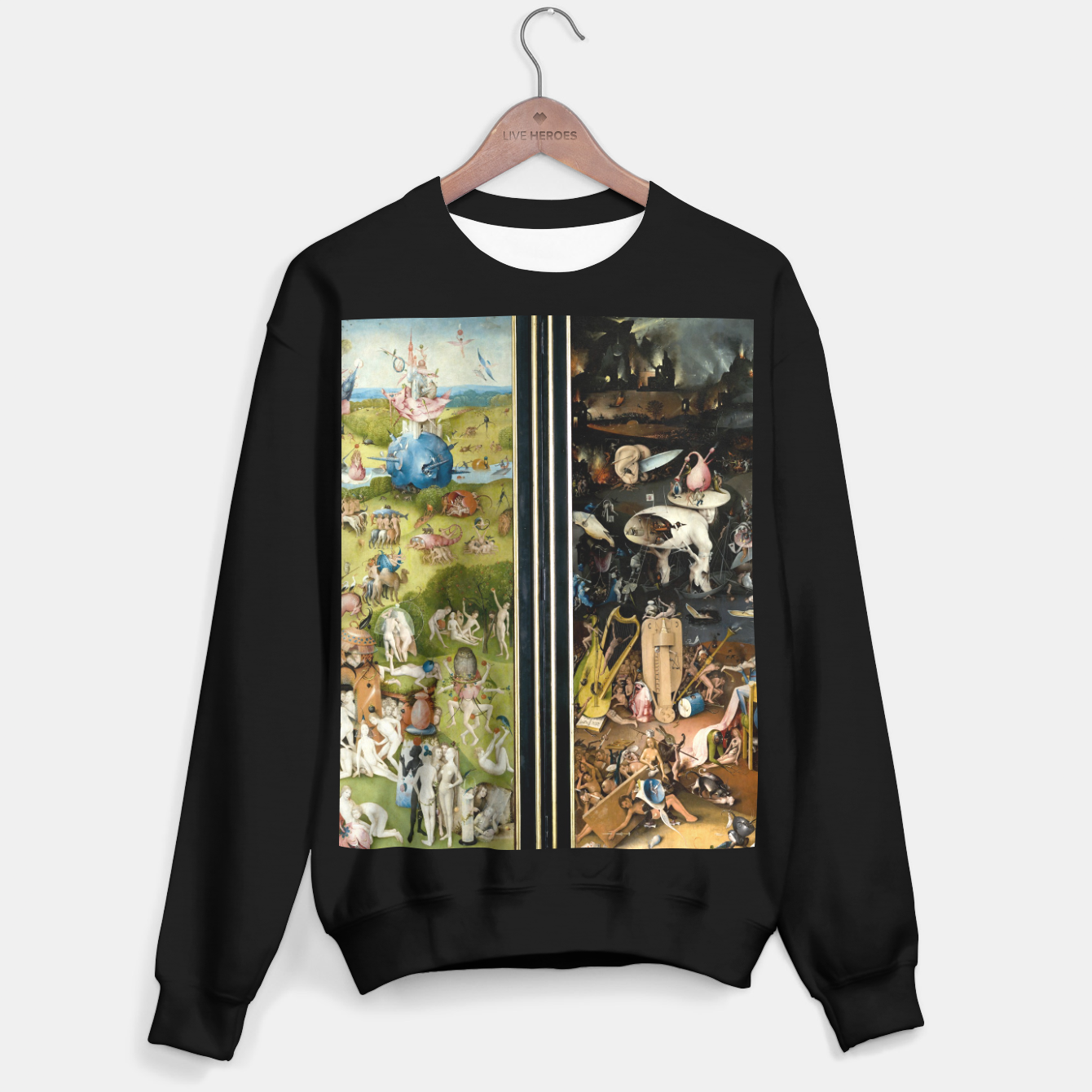 Image of THE GARDEN OF EARTHLY DELiGHTS BY HiERONYMUS BOSCH Sweater regular - Live Heroes
