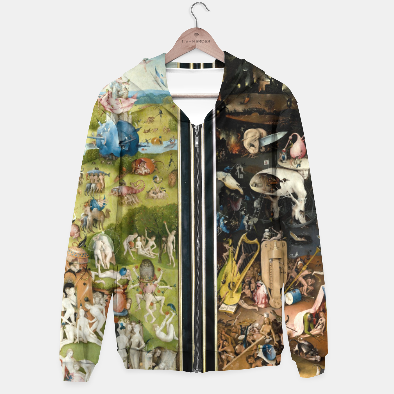 Image of THE GARDEN OF EARTHLY DELiGHTS BY HiERONYMUS BOSCH Hoodie - Live Heroes