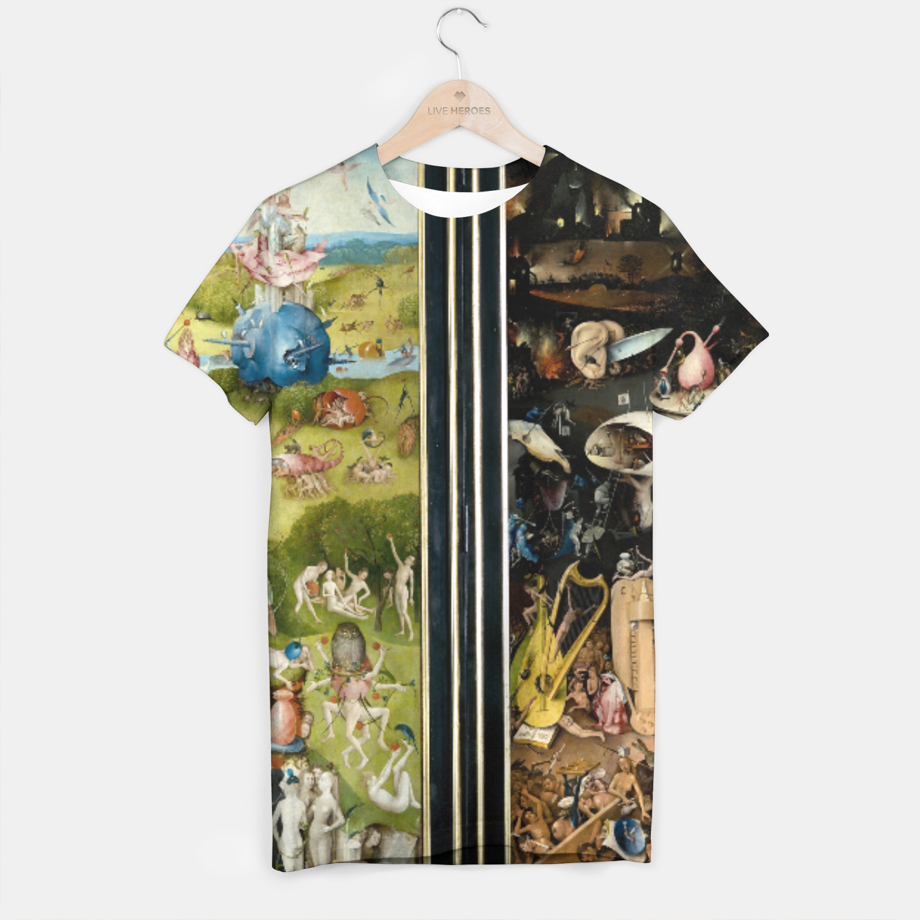 Image of THE GARDEN OF EARTHLY DELiGHTS BY HiERONYMUS BOSCH T-shirt - Live Heroes