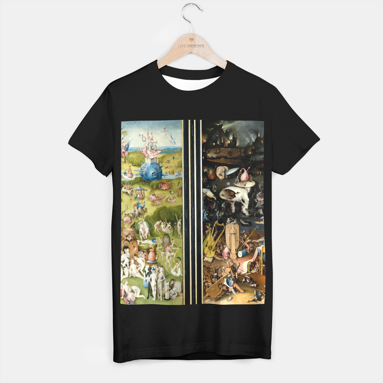 Image of THE GARDEN OF EARTHLY DELiGHTS BY HiERONYMUS BOSCH T-shirt regular - Live Heroes
