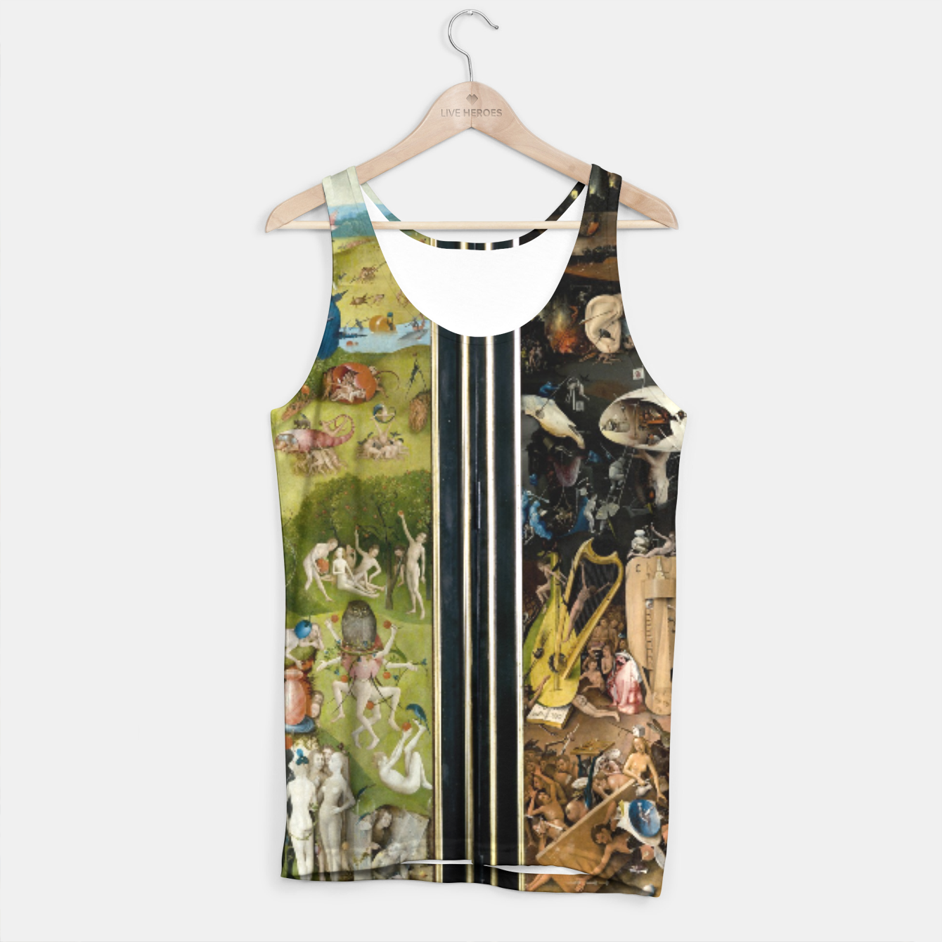 Image of THE GARDEN OF EARTHLY DELiGHTS BY HiERONYMUS BOSCH Tank Top - Live Heroes