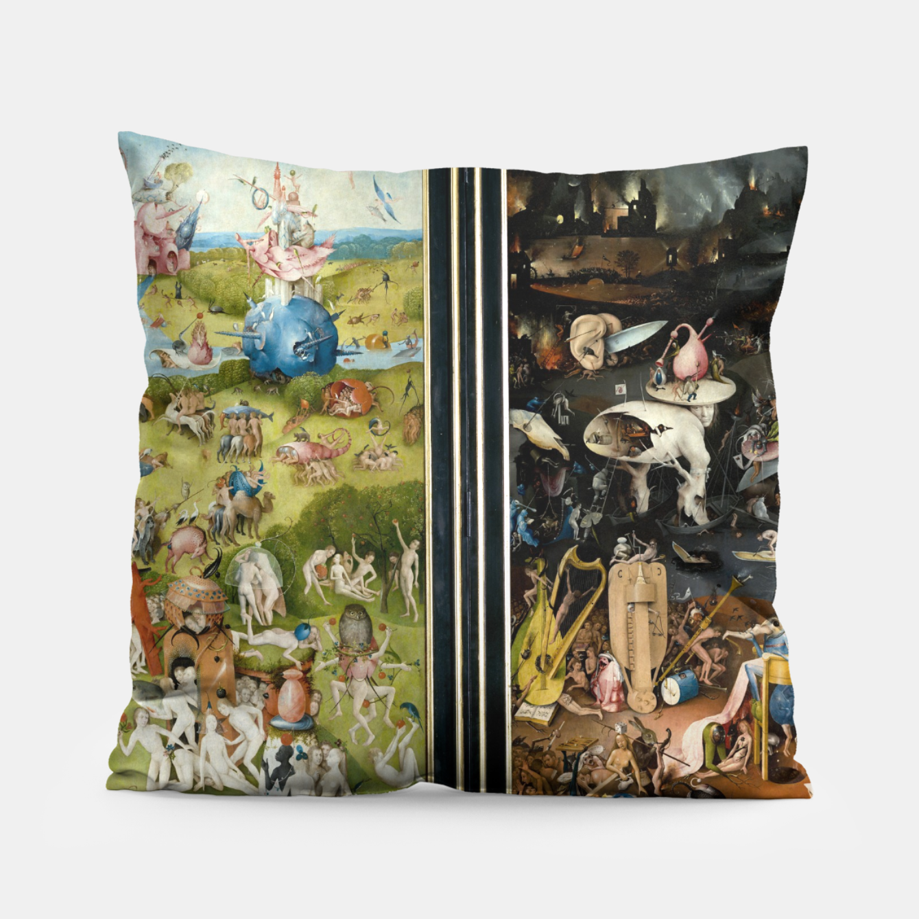 Image of THE GARDEN OF EARTHLY DELiGHTS BY HiERONYMUS BOSCH Pillow - Live Heroes