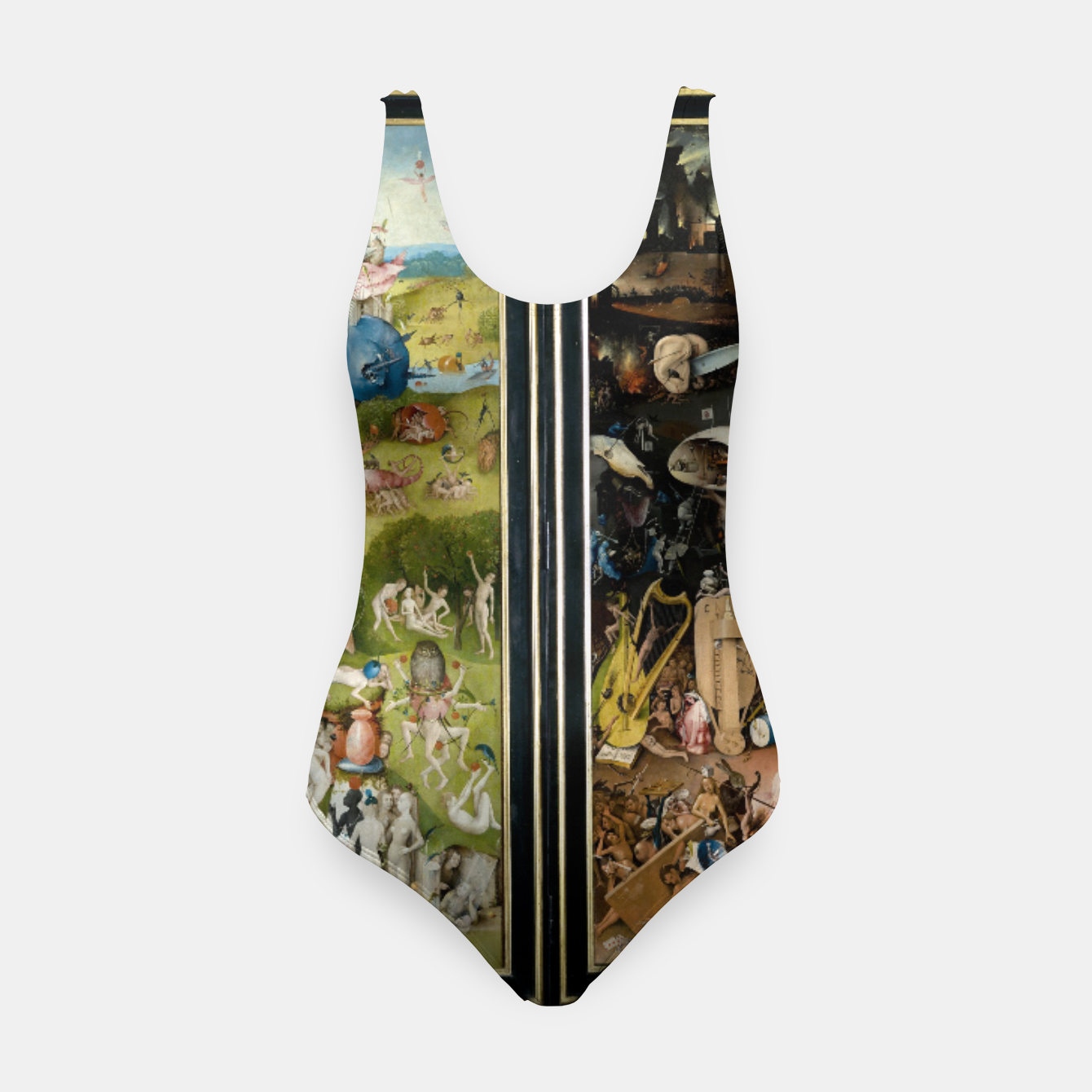 Image of THE GARDEN OF EARTHLY DELiGHTS BY HiERONYMUS BOSCH Swimsuit - Live Heroes