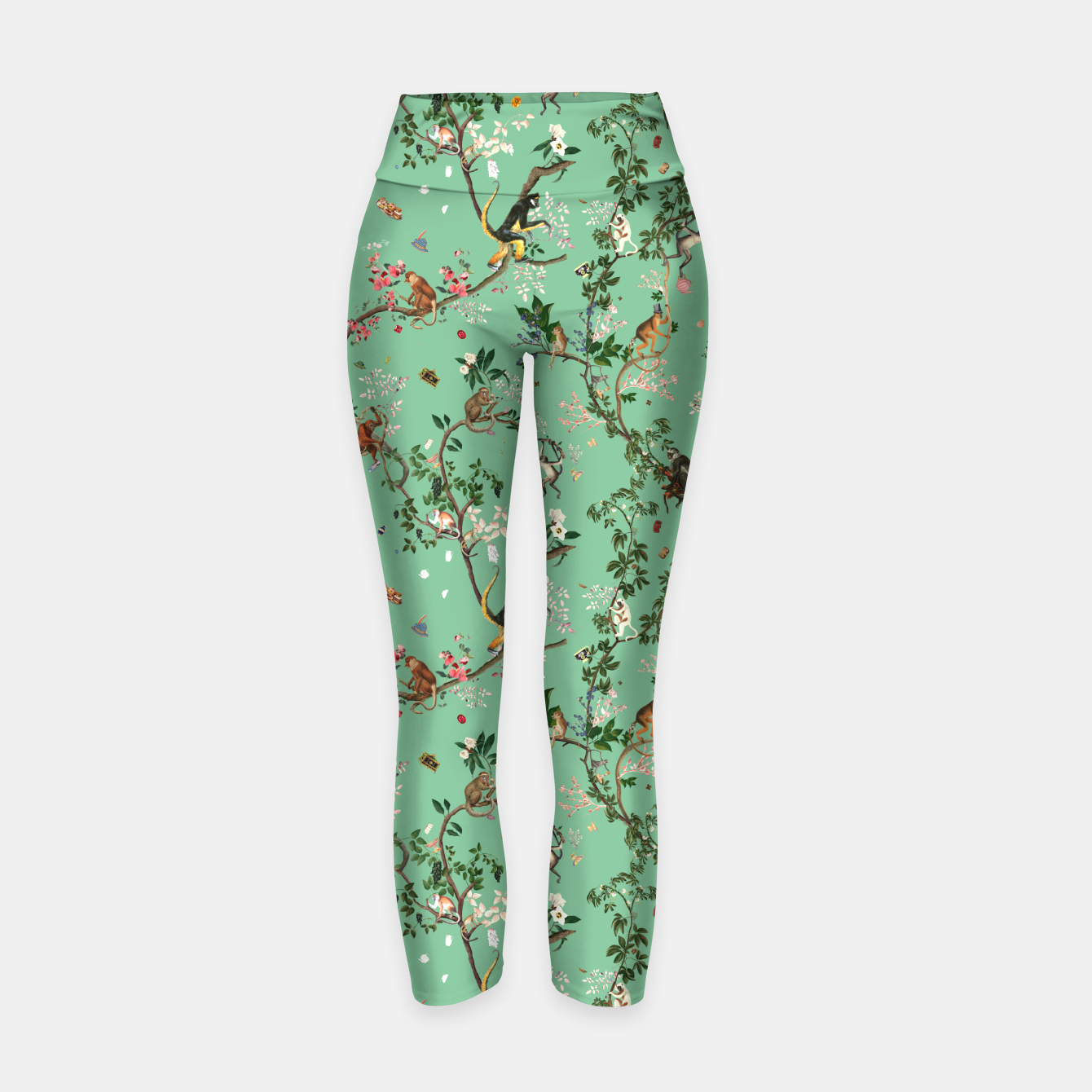 Image of Monkey World Green Yoga Pants - Live Heroes