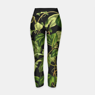 Thumbnail image of Jungle black Yoga Pants, Live Heroes