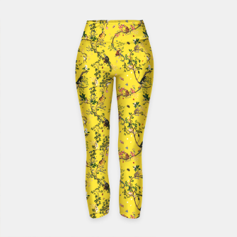 Thumbnail image of Monkey World yellow Yoga Pants, Live Heroes