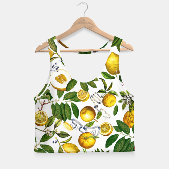 Thumbnail image of Lemon Tree white Crop Top, Live Heroes