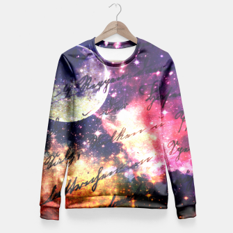 Letter from outer space Fitted Waist Sweater thumbnail image
