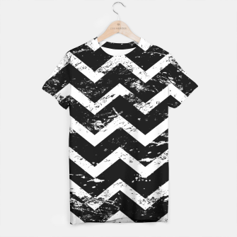 Thumbnail image of Black and white chevron T-shirt, Live Heroes