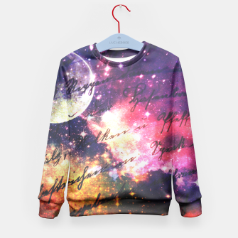 Letter from outer space Kid's Sweater thumbnail image