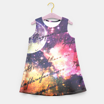 Letter from outer space Girl's Summer Dress thumbnail image