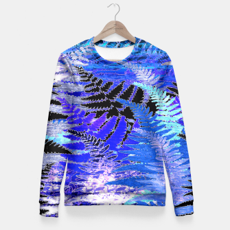 Thumbnail image of Ferns, Moonlight Blue Fitted Waist Sweater, Live Heroes