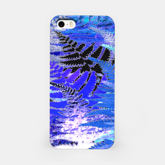 Ferns, Moonlight Blue iPhone Case thumbnail image