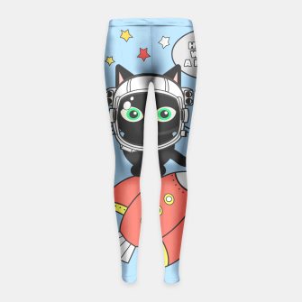 Miniaturka Space Cat - Houston we have a problem Girl's Leggings, Live Heroes