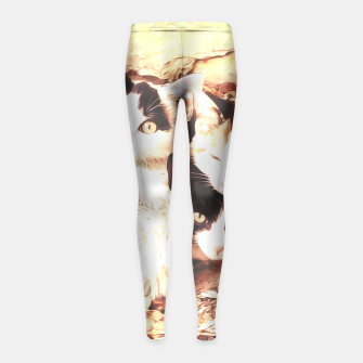 Miniaturka Three Kitties Girl's Leggings, Live Heroes