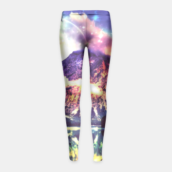 Miniaturka Night Sky at the lake Girl's Leggings, Live Heroes